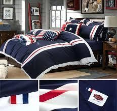 marine bedding set home textile cotton navy stripes us style modern brief bedding set designer bed