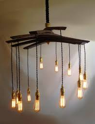 lucciole recycled wine barrel staves large 12 lights chandelier