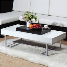 image of modern white coffee table size