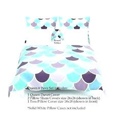 mermaid bedding mermaid bedding full set duvet cover aqua mint purple comforter twin sheet mermaid bedding