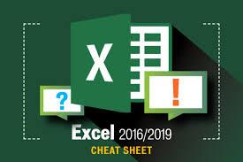 Excel 2016 And 2019 Cheat Sheet Computerworld
