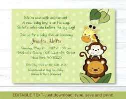 Invitation Template For Word Cool Trend Of Baby Shower Invitation Templates For Word Template Baby