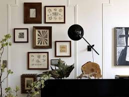 Decorations:Unique Wall Decoration Idea Using Vintage Wooden Frame On White  Wall Ideas Interesting Wall