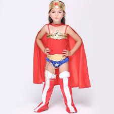 2020 Hot Children Wonder Women Costume Halloween Cosplay ...