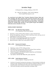 Cnc Operator Resume Samples Free Resume Templates