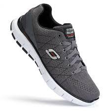 skechers running shoes for men. skech-flex men\u0027s running shoes skechers - charcoal/black for men