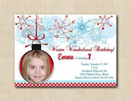 Snowflake Birthday Invitations Winter Wonderland Photo Snowflake Birthday Invitations Diy Printable