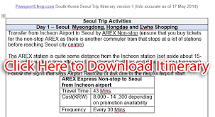 Trip Planner Cost Seoul 5 Days 4 Nights 5d4n Itinerary What To See Do Eat And