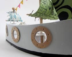 diy cardboard ship pattern