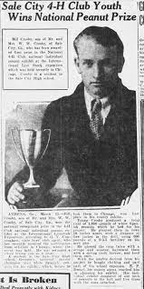 Bill Crosby, Son of Mr. Wylie and Bettie Crosby wins 4H national Peanut  Prize. March 1931 - Newspapers.com