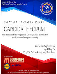 flyers forum 55th state assembly district candidate forum ocean hill