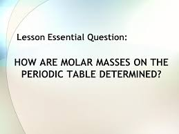 Warm Up What is a mole? What is molar mass? What is Avogadro's ...