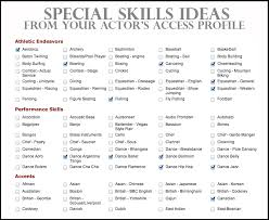 Sample Resume Skills