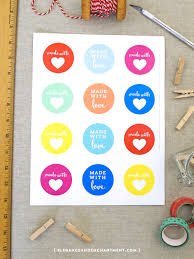 free printable made with love stickers perfect for diyers stationery