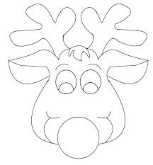 Reindeer Head Template Printable Reindeer Head Template