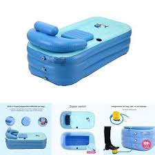 new inflatable pvc bath tub baby kids swimming pool air pump spa bathtub