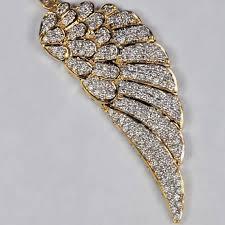 genuine diamond angel wing mens pendant