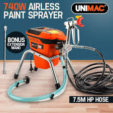 unimac airless paint sprayer 740w electric spray station diy pressure by unimac