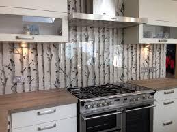 Kitchen Backsplash Wallpaper Clear Glass Splashback With Great Effect Wallpaper Behind