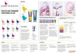Fudge Hair Dye Colour Chart Fudge Paintbox Salon Wall Chart Fudge Hair Funky Hair