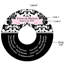 Wedding Cd Labels Damask Personalized Cd Labels 12 Pcs Musical Theme Wedding