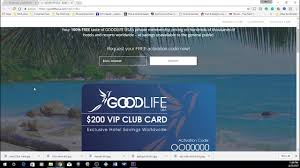 e live the good life vip club card page explained
