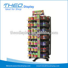 Free Standing Shop Display Units Simple Rotating Drinks Mug Display Unit Free Standing Metal Retail Store