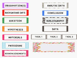 Science Fair Project Labels Printable Science Fair Headers Magdalene Project Org