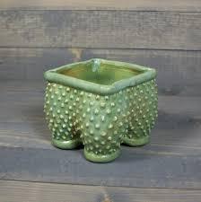ceramic planter pot with py texture grumpy pot planter with feet succulent pot
