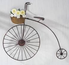 vintage bike wall decor