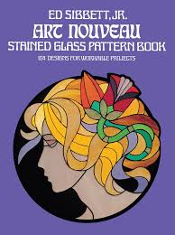 art nouveau stained gl pattern book 104 designs for workable projects dover stained gl instruction amazon co uk ed sibbett 9780486235776 books
