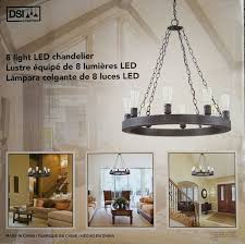 dsi lighting 8 light led chandelier in dark bronze