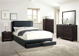 ireland queen faux leather bed black furniture