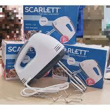 Máy đánh trứng nhào bột đánh kem Scarlett SL-133 kèm 2 que nhào bột công  suất 260W với 7 tốc độ nhanh chậm- Hàng chính hãng - Máy đánh trứng