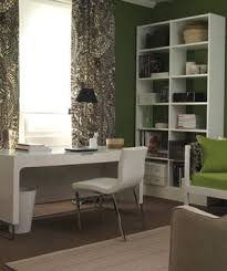living room home office ideas. Green And White Room With Desk In Front Of Window Living Home Office Ideas