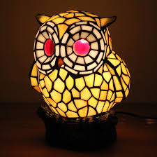com miluce lovely creative yellow owl table lamp children s