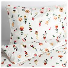 ikea rosenfibbla quilt cover and 4 pillowcases cotton feels soft and nice against your skin