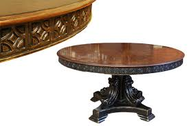 60 in round rosewood pedestal table colonial style dining table