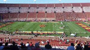 Usc Coliseum Seating Chart Los Angeles Memorial Coliseum Section 6l Row 63 Home Of