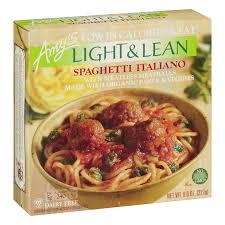 Amy S Light In Sodium Marinara Amys Light Lean Spaghetti Italiano Meatless Meatballs