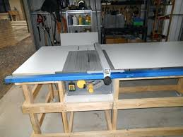 table saw fence and rail system table saw work station with homemade t square fence part