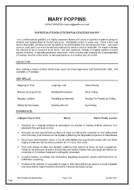 Infant Nanny Resume Template Samples Proposal Resume Example Nanny Delectable Infant Nanny Resume