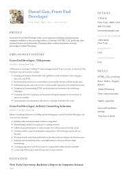 Each template has been expertly written and will show you how. Front End Developer Resume Example Resume Examples Resume Objective Examples Resume