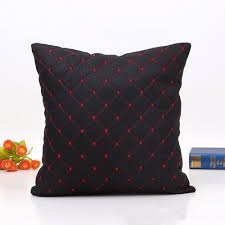 black faux leather cushion covers modern minimalist home decor available in 4 colors set of 2