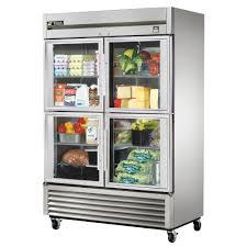 glass door refrigerator commercial refrigerator stainless interior 4 half door 49