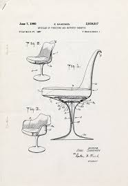 Image Exploded Furnituredesigndrawingshomedesign chairdrawing patentdrawing Pinterest Eero Saarinen Portfolio Of Selected Works Furniture Pinterest