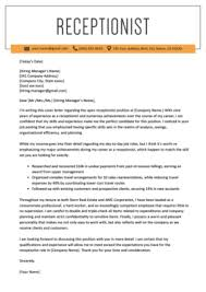 Front Desk Cover Letters Front Desk Cover Letter Example Tips Resume Genius