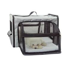 Light Blue Dog Crate X Small Light Blue Pet Life Capacious Dual Sided Expandable