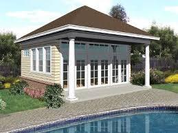 Unique Pool House Plans Designs Plan The Garage Shop With Beautiful Ideas