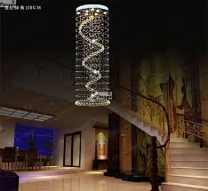new long chandelier crystal chandelier modern staircase villa stairs light led large hanging wire lights